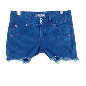 Hudson Pin Stripe Womens Jean Shorts Cut Off 26